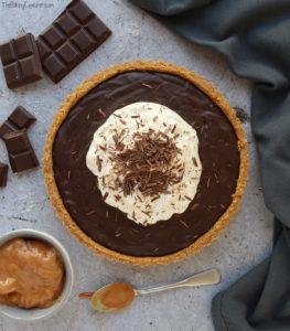 Salted Caramel & Chocolate Tart