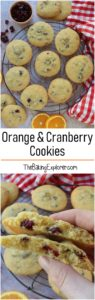 Orange & Cranberry Cookies