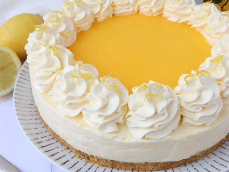Lemon Curd Cheesecake (No Bake)