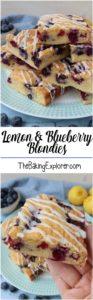 Lemon & Blueberry Blondies