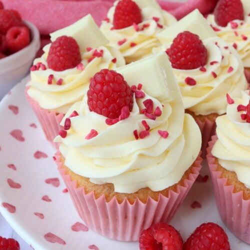Raspberry & White Chocolate Cupcakes