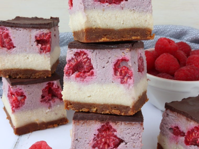 Vegan Neapolitan Cheesecake Bars (ad)