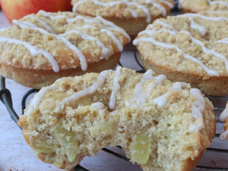 Apple Crumble Baked Donuts