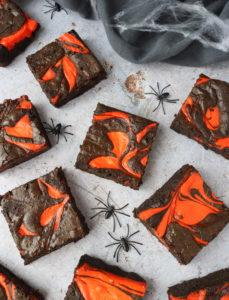 Halloween Cheesecake Brownies