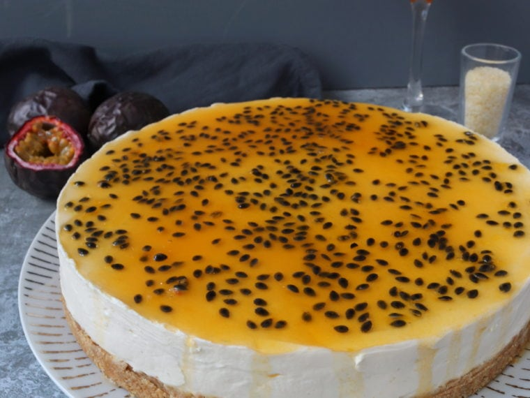Passion Fruit Martini Cheesecake (No Bake)