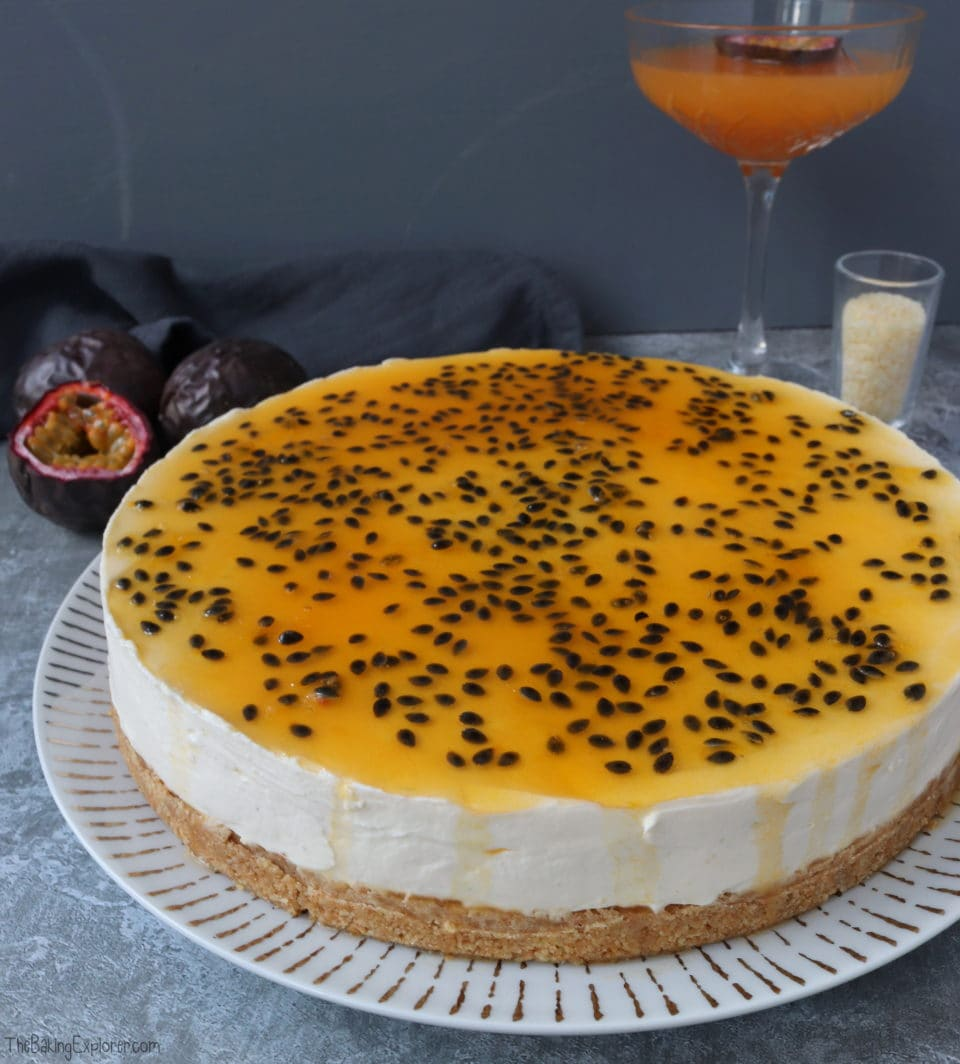 Passion Fruit Martini Cheesecake