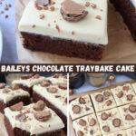 Baileys Chocolate Traybake Cake