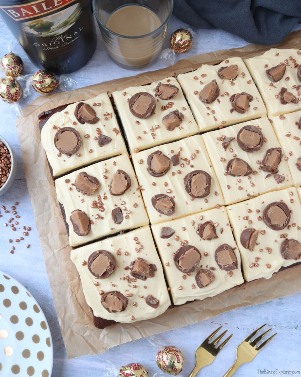 Baileys Chocolate Traybake The Baking Explorer