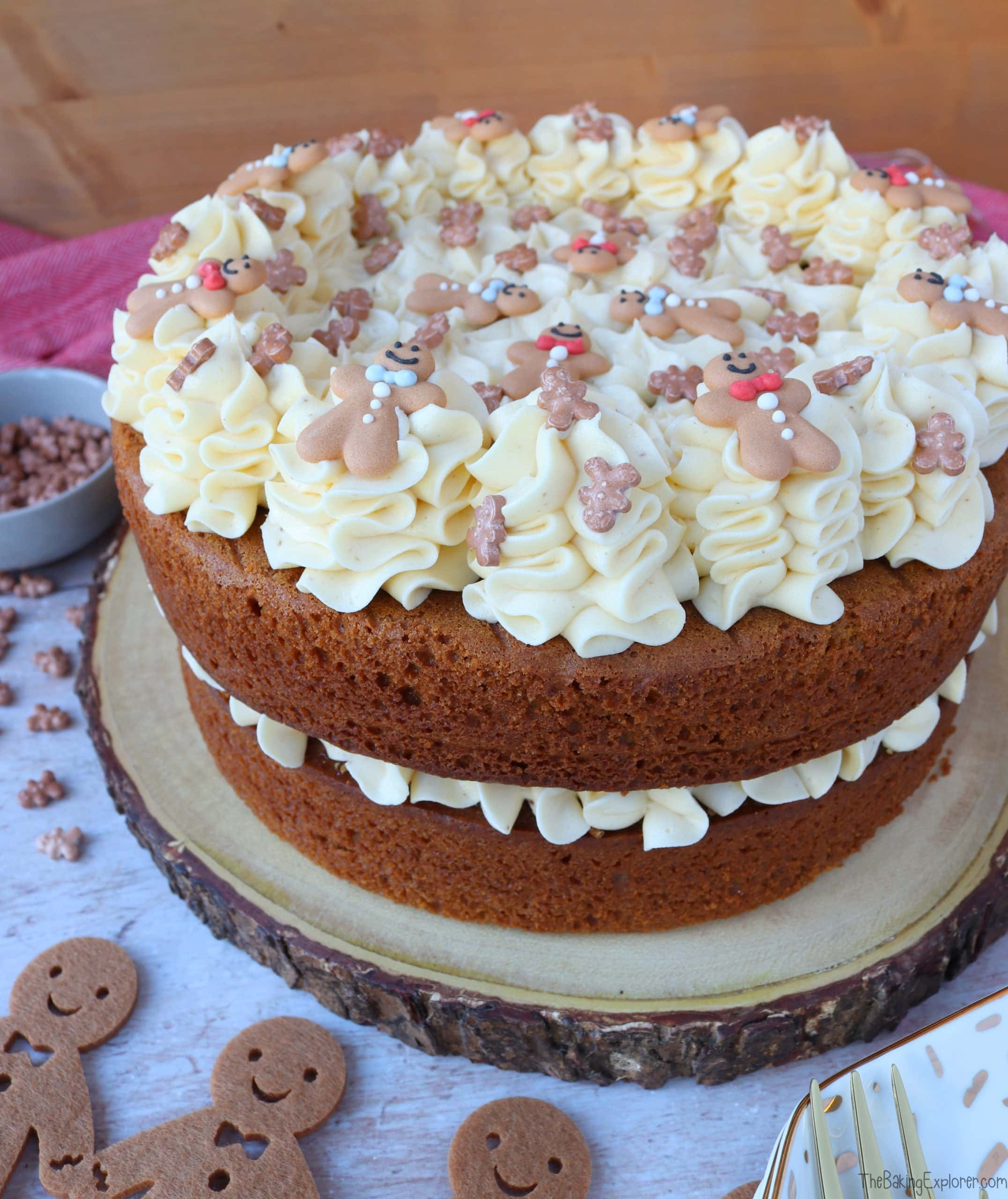 Gingerbread Cake with Ginger Buttercream