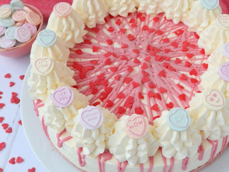 Love Heart Valentine's Day Cheesecake (No Bake)