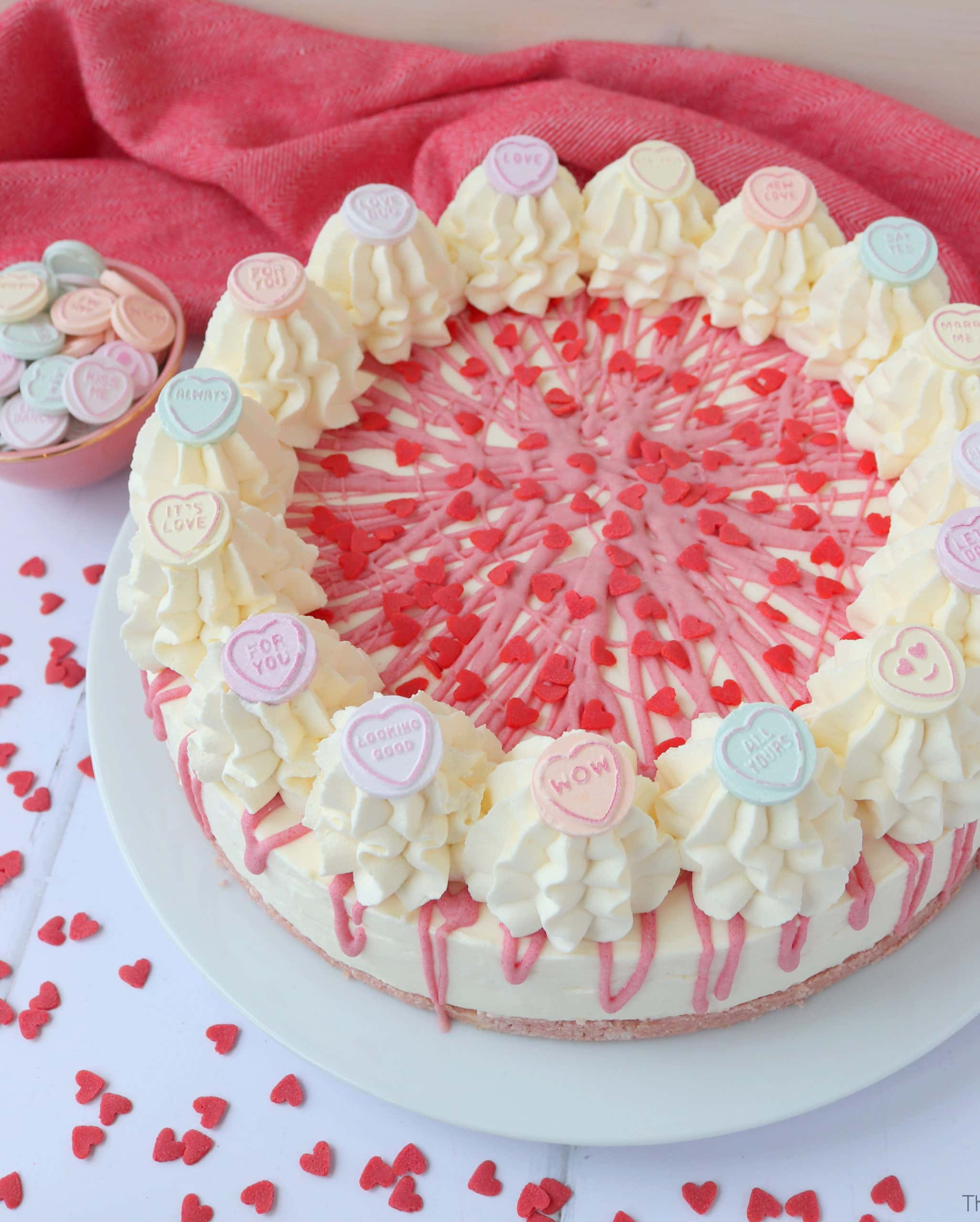 Love Heart Valentine's Day Cheesecake
