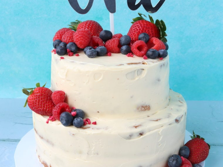 Baby's 1st Birthday Cake (Healthy & Refined Sugar Free!)