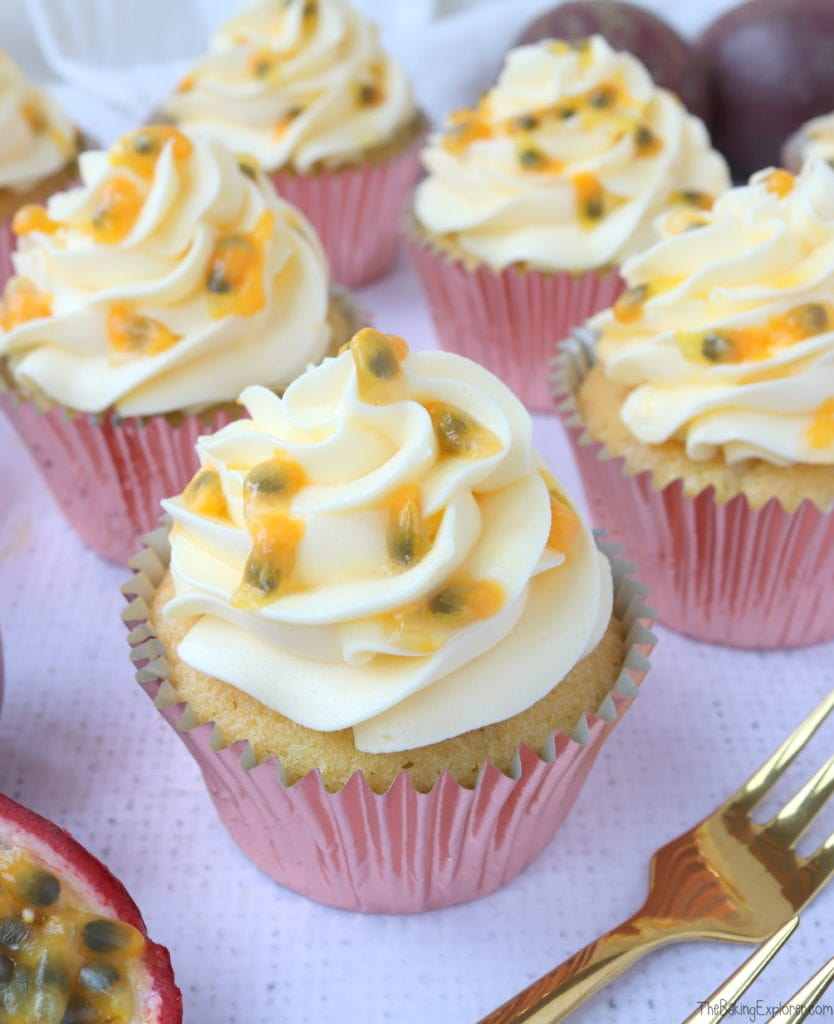 Passion Fruit Martini Cupcakes