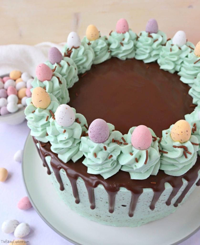 Easter Speckled Egg Drip Cake