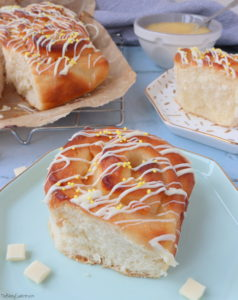 Lemon Curd & White Chocolate Bread Rolls