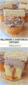 Millionaire's Shortbread Cupcakes