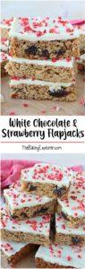 White Chocolate & Strawberry Flapjacks