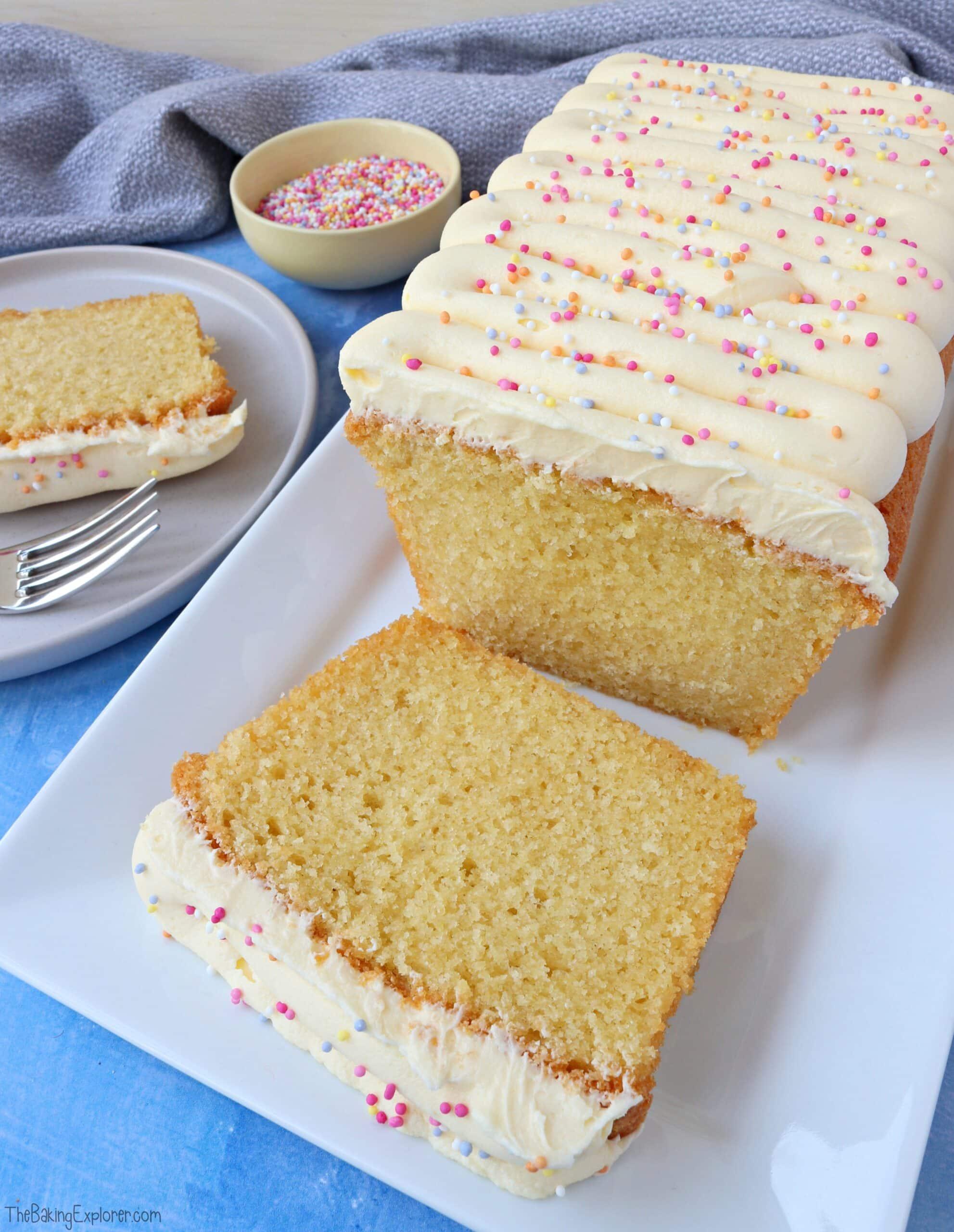 Sliced Vanilla Loaf Cake