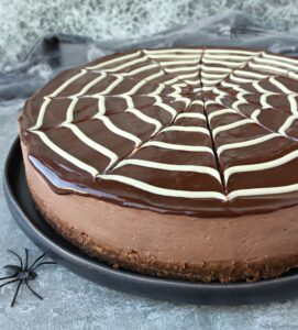 Chocolate Spiderweb Cheesecake