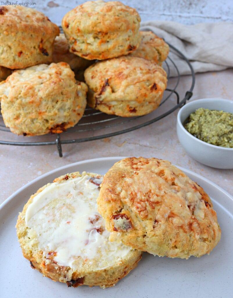 Cheese, Sundried Tomato & Pesto Scones