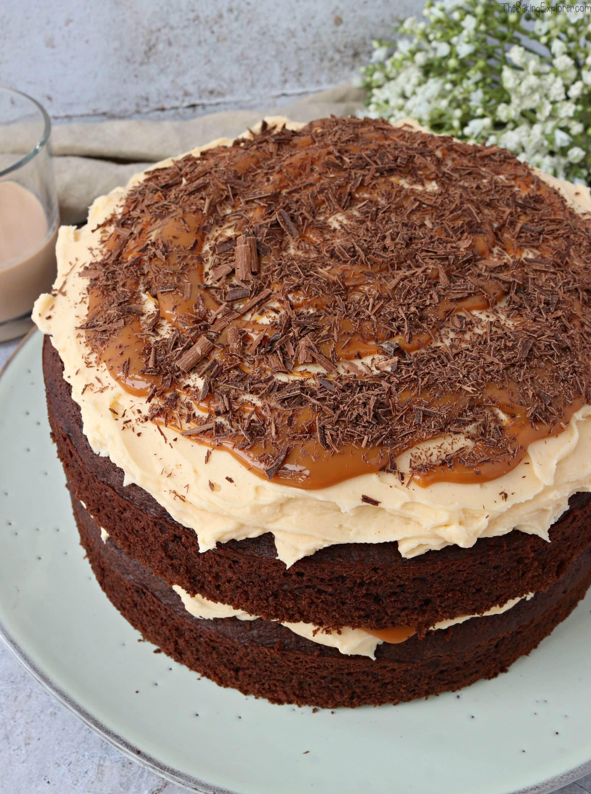 Amarula, Chocolate & Caramel Cake