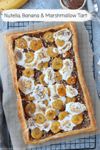 Nutella, Banana & Marshmallow Tart