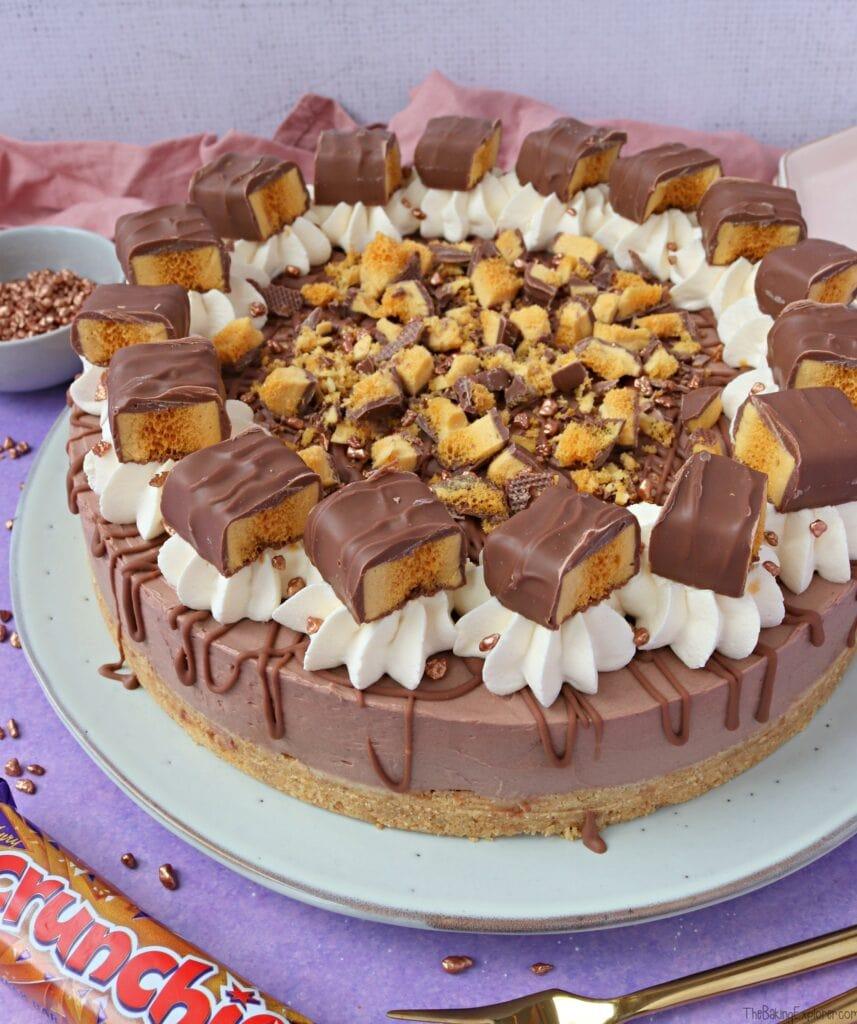 No Bake Crunchie Cheesecake
