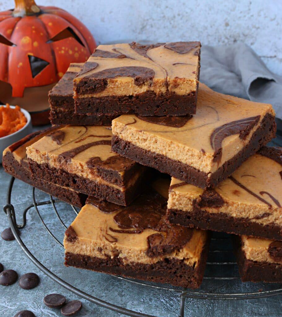 Pumpkin Cheesecake Chocolate Brownies
