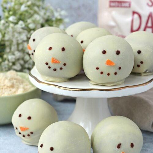 Vegan Chocolate Snowman Truffles