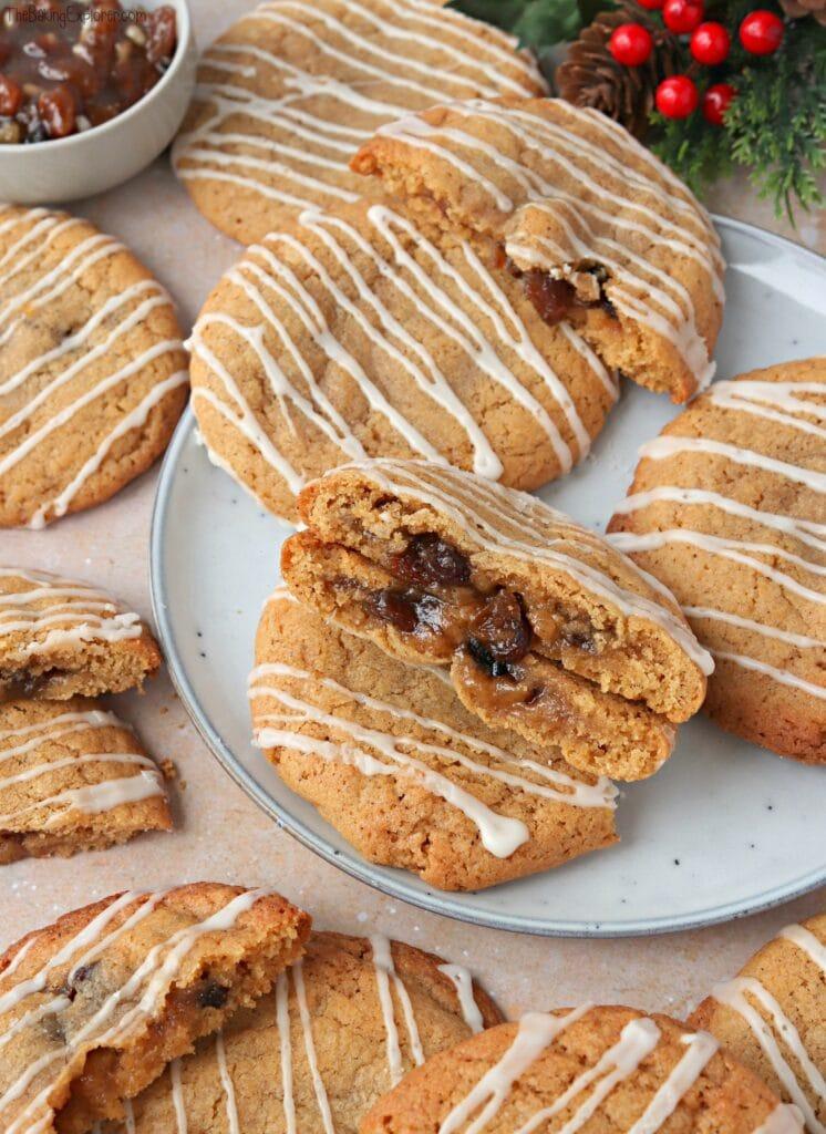 Mince Pie Stuffed Cookies