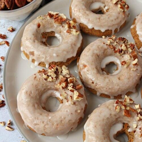 Vegan Carrot Cake Baked Donuts