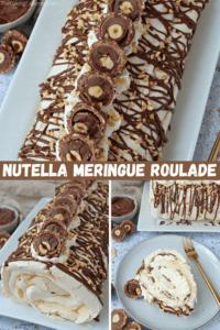 Nutella Meringue Roulade