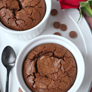 Chocolate Brownie Pots for Two