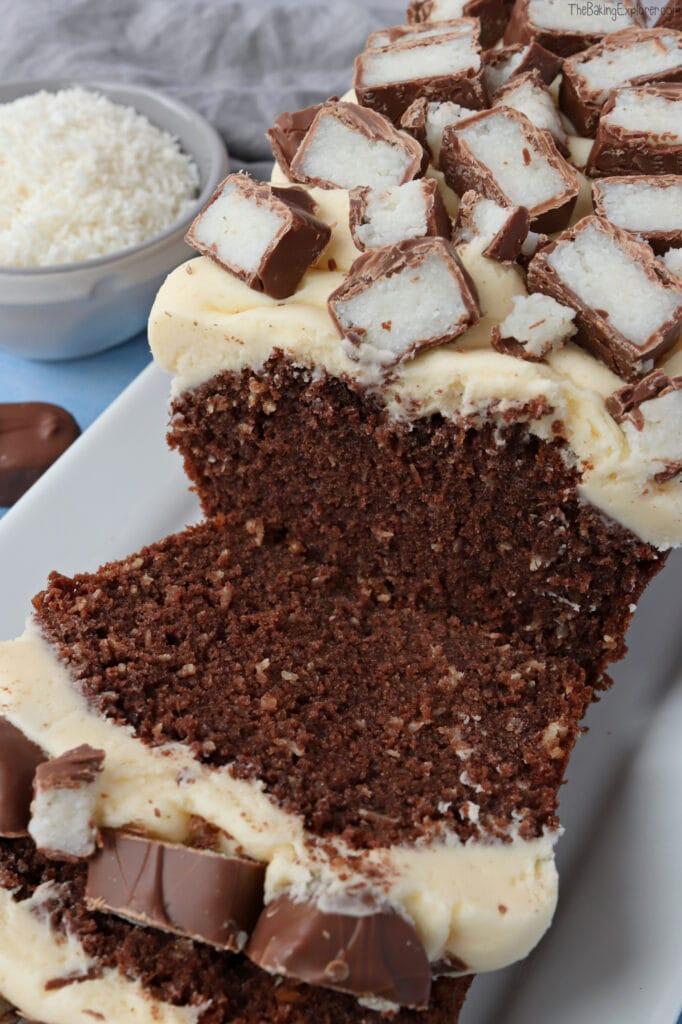 Bounty Chocolate & Coconut Loaf Cake