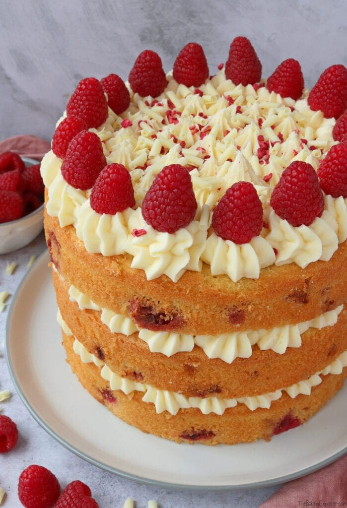 Raspberry & White Chocolate Cake