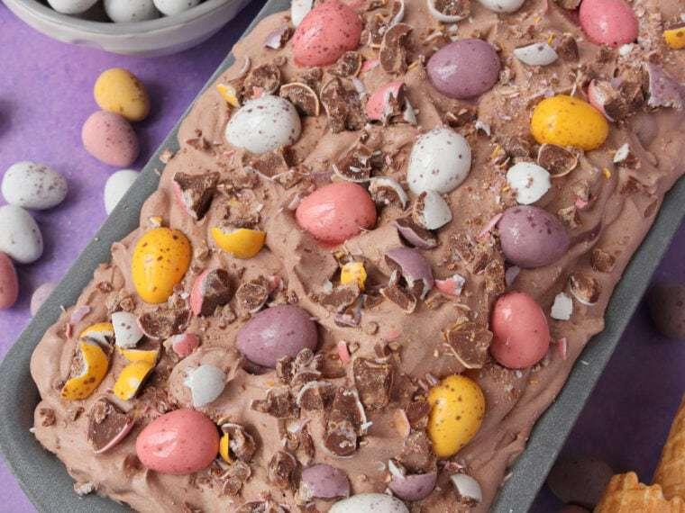 Mini Egg Ice Cream (No Churn)