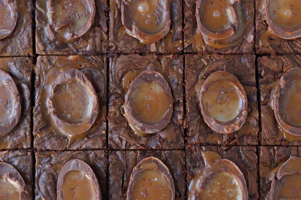 Salted Caramel Egg Brownies