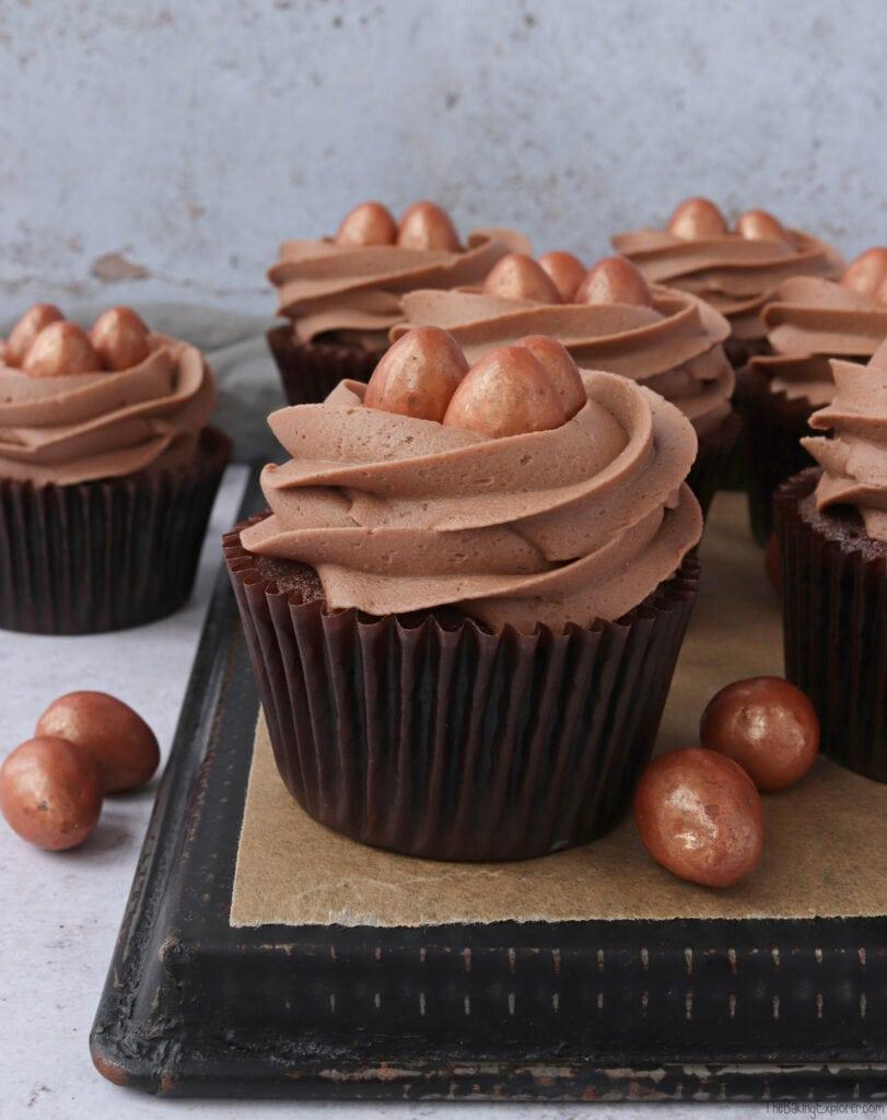 Chocolate & Caramel Easter Nest Cupcakes