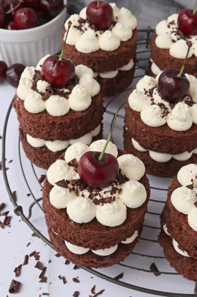 Mini Black Forest Cakes