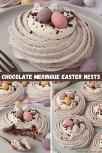 Chocolate Meringue Easter Nests