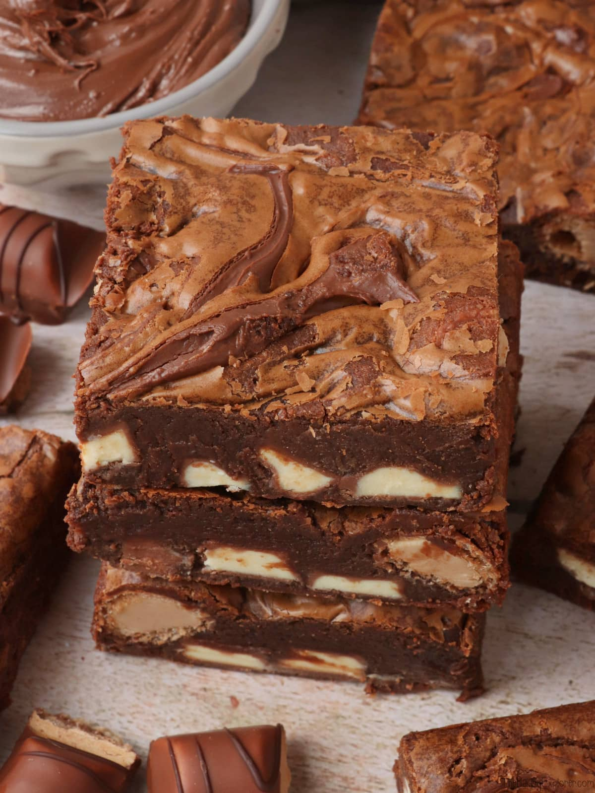 Nutella Kinder Bueno Brownies