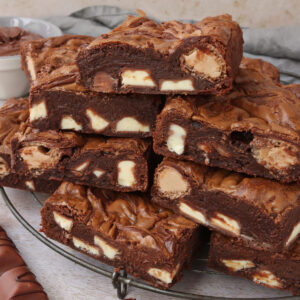Nutella Kinder Bueno Brownies