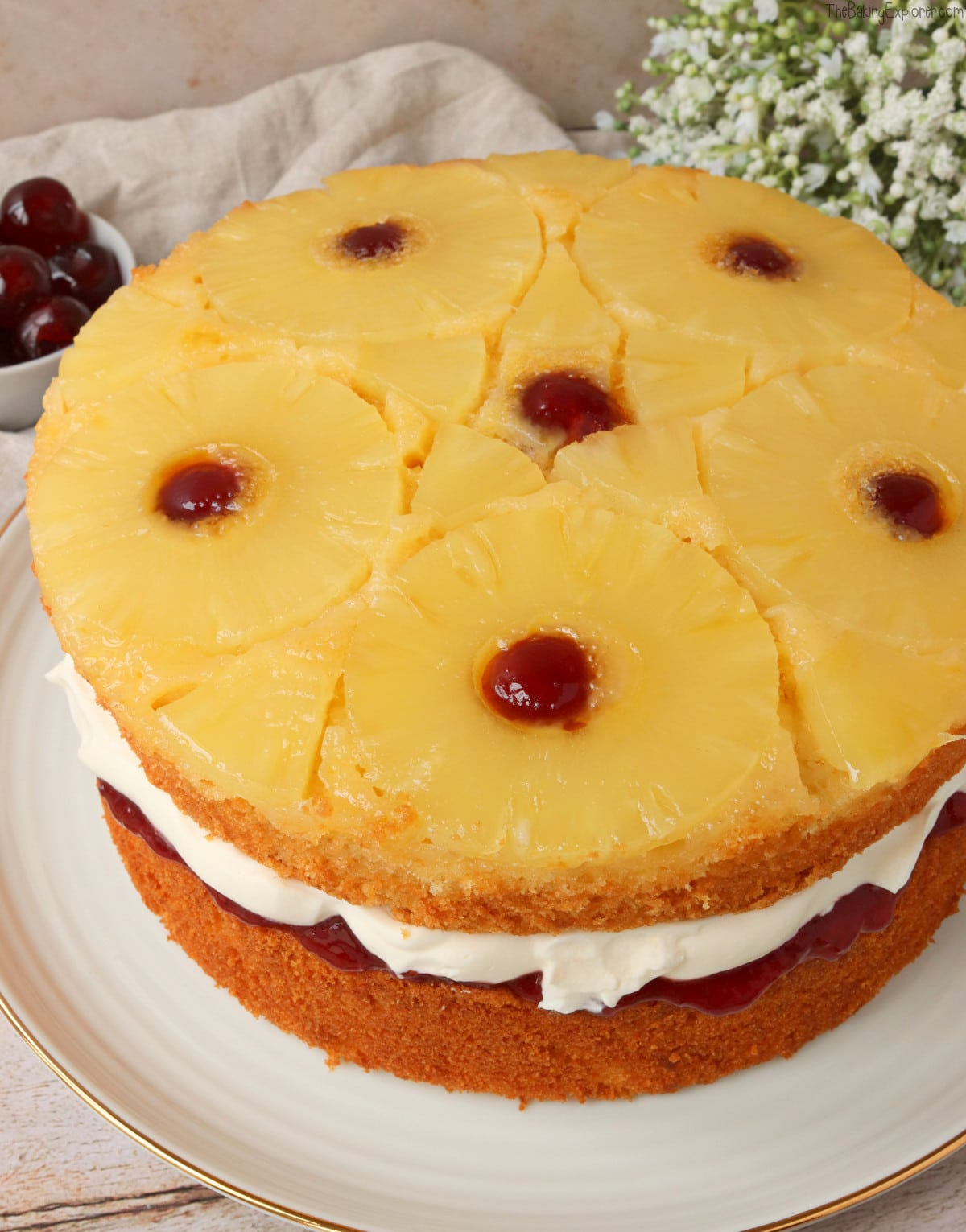 Pineapple Upside Down Sandwich Cake