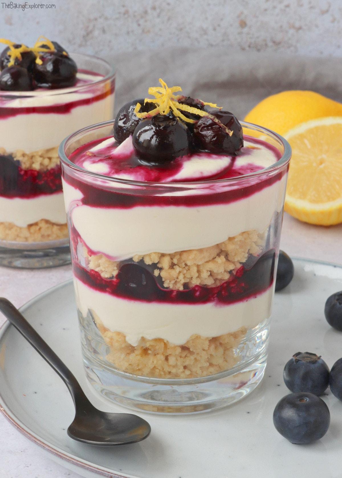 Lemon & Blueberry Dessert Pots